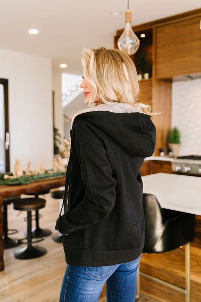 Head Over Heels Sherpa Lined Hoodie In Black-[option4]-[option5]-[option6]-[option7]-[option8]-Womens-Clothing-Shop