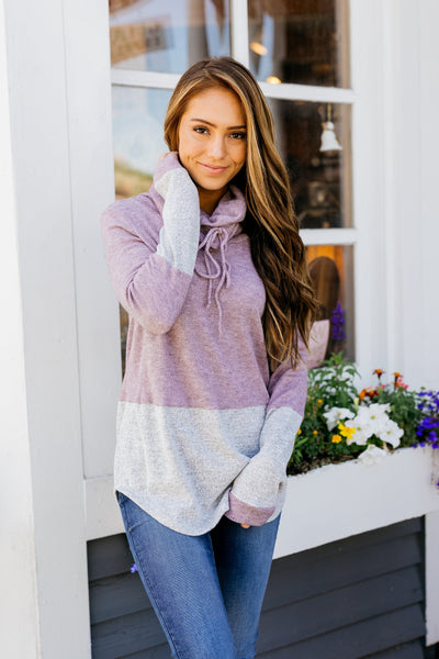 Heathered Plum Color Block Sweater-[option4]-[option5]-[option6]-[option7]-[option8]-Womens-Clothing-Shop