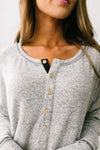 Heavenly Henley Top In Heather Gray-[option4]-[option5]-[option6]-[option7]-[option8]-Womens-Clothing-Shop