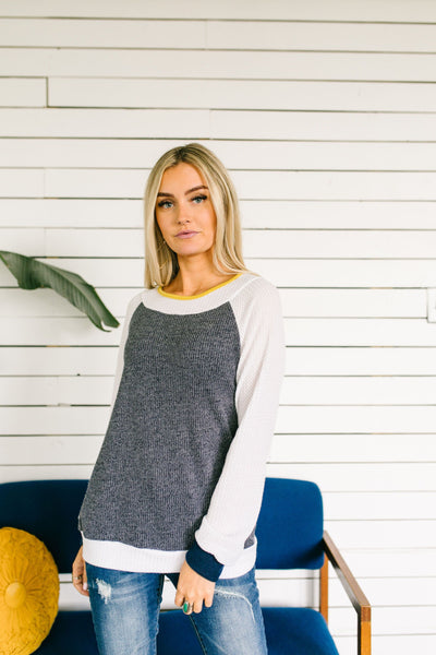Hold The Syrup Waffle Knit Raglan Tee-[option4]-[option5]-[option6]-[option7]-[option8]-Womens-Clothing-Shop