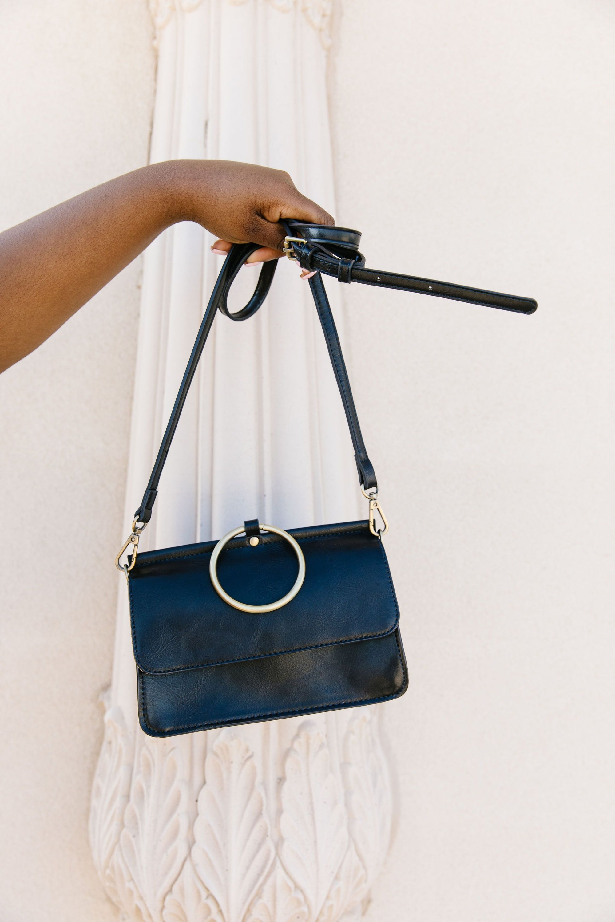 Inner Circle Clutch In Midnight Blue-[option4]-[option5]-[option6]-[option7]-[option8]-Womens-Clothing-Shop