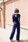 Jump For Joy Navy Jumpsuit *Final Sale*-[option4]-[option5]-[option6]-[option7]-[option8]-Womens-Clothing-Shop