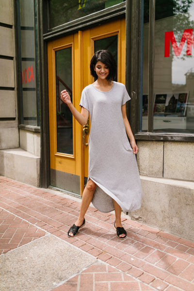 Keep Your Cool Dress In Heather Gray *Final Sale*-[option4]-[option5]-[option6]-[option7]-[option8]-Womens-Clothing-Shop
