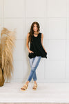 Keyhole & Pockets Tank In Black-[option4]-[option5]-[option6]-[option7]-[option8]-Womens-Clothing-Shop