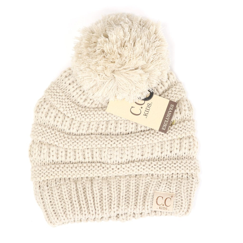 Kids Pom CC Beanie-[option4]-[option5]-[option6]-[option7]-[option8]-Womens-Clothing-Shop