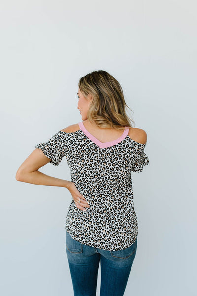 Kitty Cat Cold Shoulder Top-[option4]-[option5]-[option6]-[option7]-[option8]-Womens-Clothing-Shop