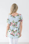 Fit To Be Tied Floral Blue Top-[option4]-[option5]-[option6]-[option7]-[option8]-Womens-Clothing-Shop