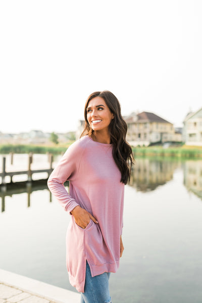 Lazy Day Tunic In Pink-[option4]-[option5]-[option6]-[option7]-[option8]-Womens-Clothing-Shop