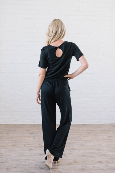 Life Is Good Jumpsuit In Black-[option4]-[option5]-[option6]-[option7]-[option8]-Womens-Clothing-Shop