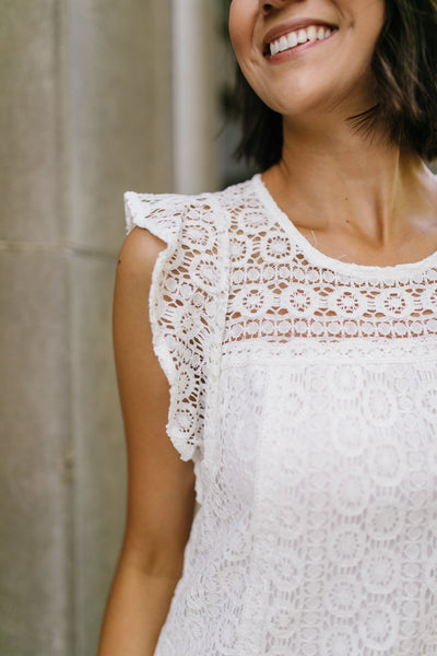 Lovely Lace Overlay Dress In Ivory-[option4]-[option5]-[option6]-[option7]-[option8]-Womens-Clothing-Shop