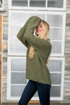Mock Neck Two Toned Sweater-[option4]-[option5]-[option6]-[option7]-[option8]-Womens-Clothing-Shop