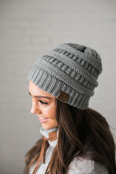 Nifty Knit Beanie In Natural Gray-One Size-[option4]-[option5]-[option6]-[option7]-[option8]-Womens-Clothing-Shop