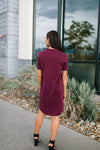 Northwest Knit Dress in Burgundy-[option4]-[option5]-[option6]-[option7]-[option8]-Womens-Clothing-Shop