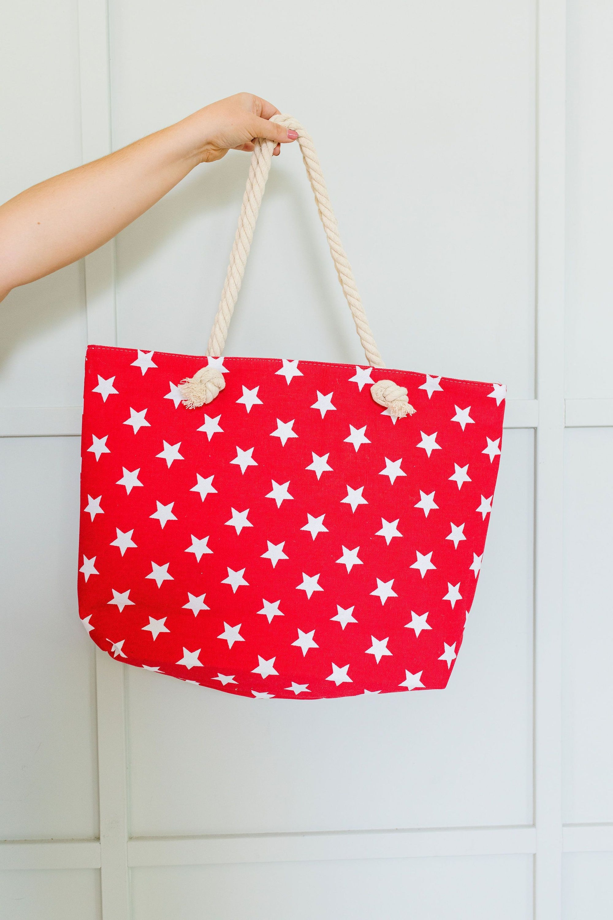Oh My Stars Tote In Red-[option4]-[option5]-[option6]-[option7]-[option8]-Womens-Clothing-Shop