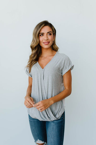 Perfect V Surplice Top-[option4]-[option5]-[option6]-[option7]-[option8]-Womens-Clothing-Shop