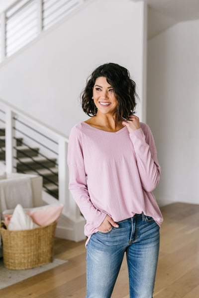 Pink Lavender Textured Top-[option4]-[option5]-[option6]-[option7]-[option8]-Womens-Clothing-Shop