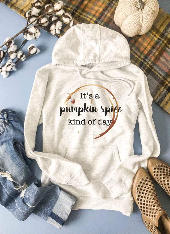 Pumpkin Spice Kind Of Day Hoodie In Oatmeal-[option4]-[option5]-[option6]-[option7]-[option8]-Womens-Clothing-Shop
