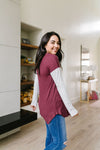 Pure & Simple Raglan Tee In Plum *Final Sale*-[option4]-[option5]-[option6]-[option7]-[option8]-Womens-Clothing-Shop