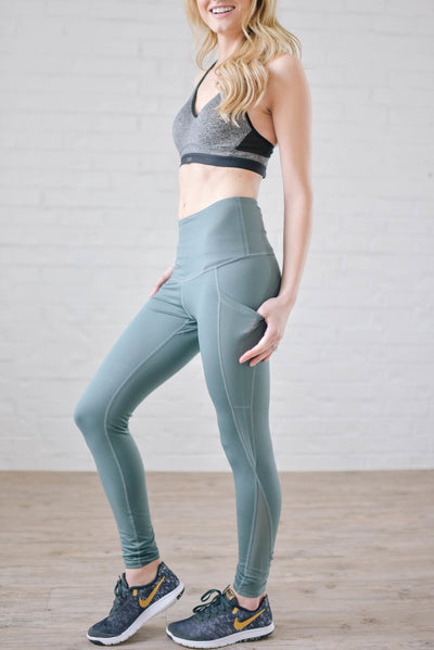 Running The World Leggings In Dusty Teal-[option4]-[option5]-[option6]-[option7]-[option8]-Womens-Clothing-Shop