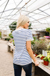 Sails To The Wind Top In Ivory & Blue-[option4]-[option5]-[option6]-[option7]-[option8]-Womens-Clothing-Shop