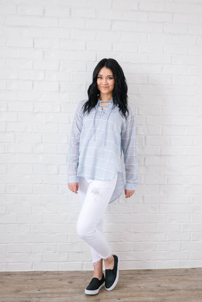 Sasha Ties Tunic in Blue