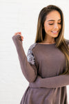 Sequin Spangled Shoulders Top-[option4]-[option5]-[option6]-[option7]-[option8]-Womens-Clothing-Shop