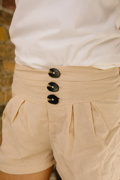 Button Up For Summer Shorts-[option4]-[option5]-[option6]-[option7]-[option8]-Womens-Clothing-Shop
