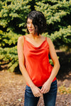 Silky Satin Cami In Cayenne-[option4]-[option5]-[option6]-[option7]-[option8]-Womens-Clothing-Shop