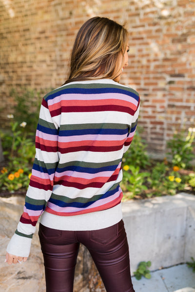 Simply Sublime Striped Sweater-[option4]-[option5]-[option6]-[option7]-[option8]-Womens-Clothing-Shop