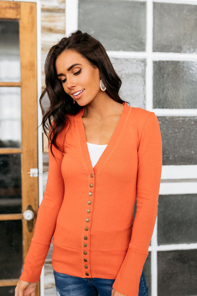 Snap Out Of It Cardigan in Copper-[option4]-[option5]-[option6]-[option7]-[option8]-Womens-Clothing-Shop