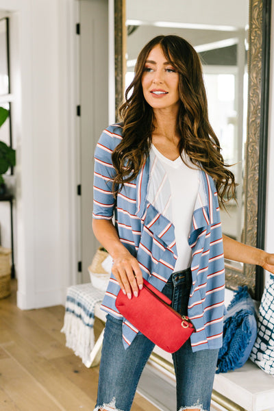Sporty Striped Cardi In Blue-[option4]-[option5]-[option6]-[option7]-[option8]-Womens-Clothing-Shop
