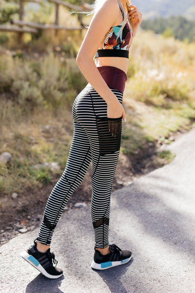 Sprint To The Finish Striped Leggings-[option4]-[option5]-[option6]-[option7]-[option8]-Womens-Clothing-Shop