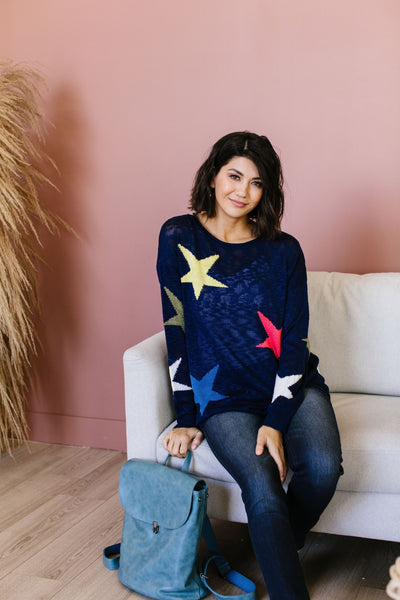 Starring You Sweater In Navy-[option4]-[option5]-[option6]-[option7]-[option8]-Womens-Clothing-Shop