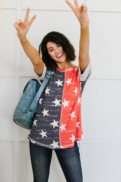 Stars & Stripes Forever Top-[option4]-[option5]-[option6]-[option7]-[option8]-Womens-Clothing-Shop