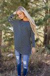 Steady She Goes Striped Top In Navy-[option4]-[option5]-[option6]-[option7]-[option8]-Womens-Clothing-Shop