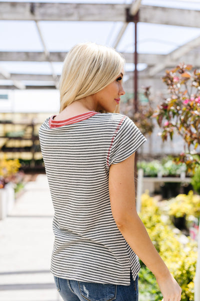 Striped Ringer Tee-[option4]-[option5]-[option6]-[option7]-[option8]-Womens-Clothing-Shop