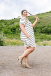 Stripey Babydoll Dress In Ivory-[option4]-[option5]-[option6]-[option7]-[option8]-Womens-Clothing-Shop
