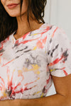 Sunburst Tie Dye V-Neck-[option4]-[option5]-[option6]-[option7]-[option8]-Womens-Clothing-Shop