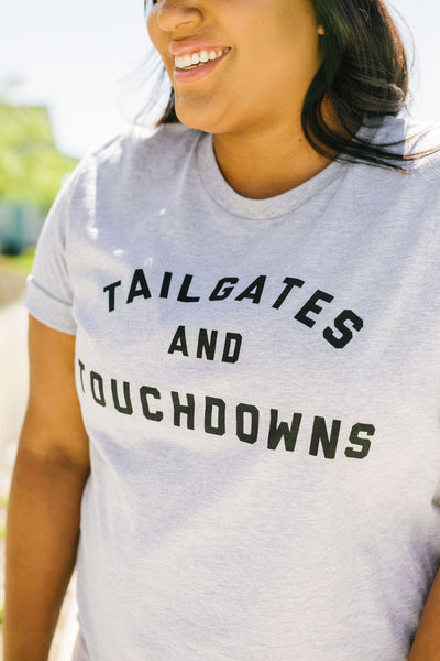 Tailgates And Touchdowns Graphic Tee-[option4]-[option5]-[option6]-[option7]-[option8]-Womens-Clothing-Shop