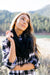 Tassled Infinity Scarf In Black-[option4]-[option5]-[option6]-[option7]-[option8]-Womens-Clothing-Shop