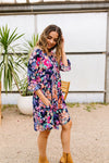 Terrace Garden Dress In Navy-[option4]-[option5]-[option6]-[option7]-[option8]-Womens-Clothing-Shop