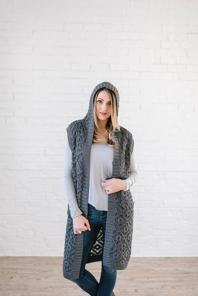 The Haley Hooded Sweater Vest in Charcoal-One Size-[option4]-[option5]-[option6]-[option7]-[option8]-Womens-Clothing-Shop