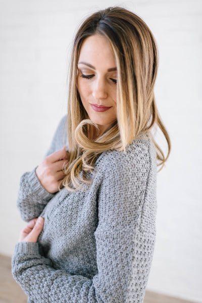 The London Cable Knit Cardi in Gray-[option4]-[option5]-[option6]-[option7]-[option8]-Womens-Clothing-Shop