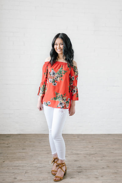 The Natalie Floral Top-[option4]-[option5]-[option6]-[option7]-[option8]-Womens-Clothing-Shop