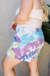 Tie Dye Swirls Shorts In Purple-[option4]-[option5]-[option6]-[option7]-[option8]-Womens-Clothing-Shop