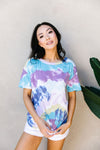 Tie Dye Swirls Top In Purple-[option4]-[option5]-[option6]-[option7]-[option8]-Womens-Clothing-Shop