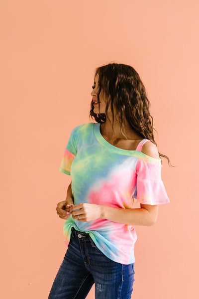 Tie Dyed Rainbow Top-[option4]-[option5]-[option6]-[option7]-[option8]-Womens-Clothing-Shop
