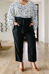 Tied In Knots Black Pants *Final Sale*-[option4]-[option5]-[option6]-[option7]-[option8]-Womens-Clothing-Shop