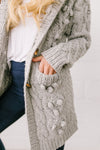 Toggled Cable Knit Cardigan-One Size-[option4]-[option5]-[option6]-[option7]-[option8]-Womens-Clothing-Shop