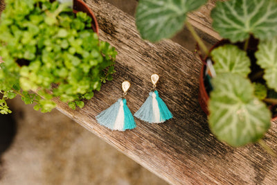 Trio Of Tassels Earrings-[option4]-[option5]-[option6]-[option7]-[option8]-Womens-Clothing-Shop